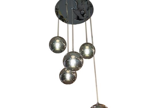 L&M Hanglamp Illusion Smoking Glass 5 lichts