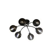 L&M Plafondlamp Illusion Smoking Glass 6 lichts