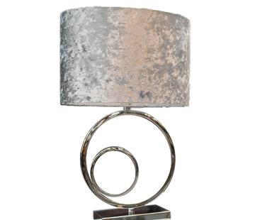 L&M Staande lamp - Double Circular Zilver