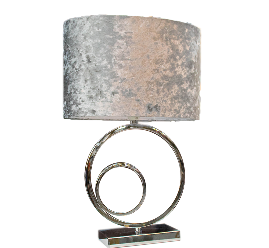 Staande lamp - Double Circular Zilver