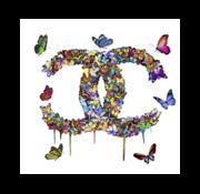 Ter Halle Glasschilderij-Chanel-3D