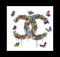 Glasschilderij-Chanel-100x100-3D