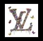 Glasschilderij-LOUIS VUITTON-100x100