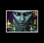 Ter Halle Glasschilderij-Green Women