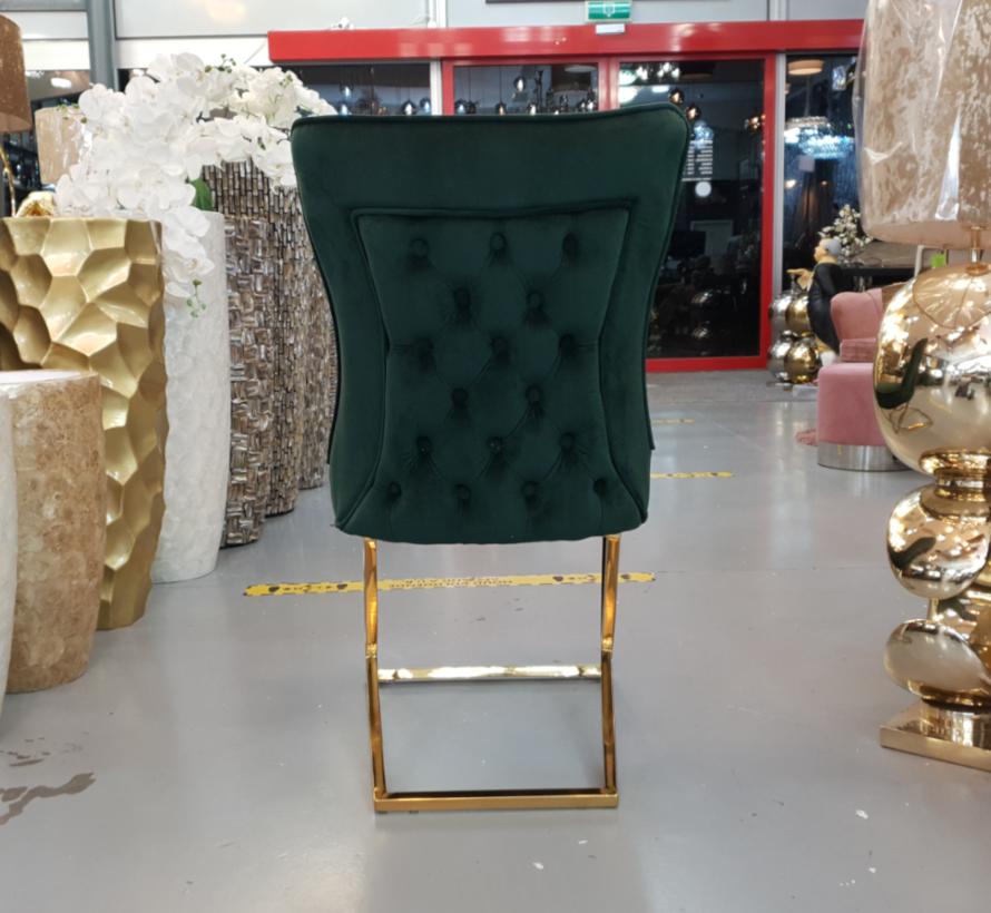 Rixos Style Stoel 2021 Groen Velvet / Goud