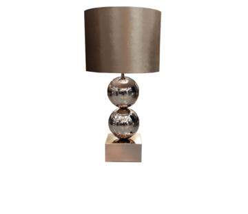 Erik Kuster Style Bollamp - Big Bolls - Brons - Tafellamp - 2 Bollen - vierkante voet