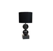 Erik Kuster Style Bollamp - Big Bolls - Zwart - Tafellamp - 2 Bollen - vierkante voet