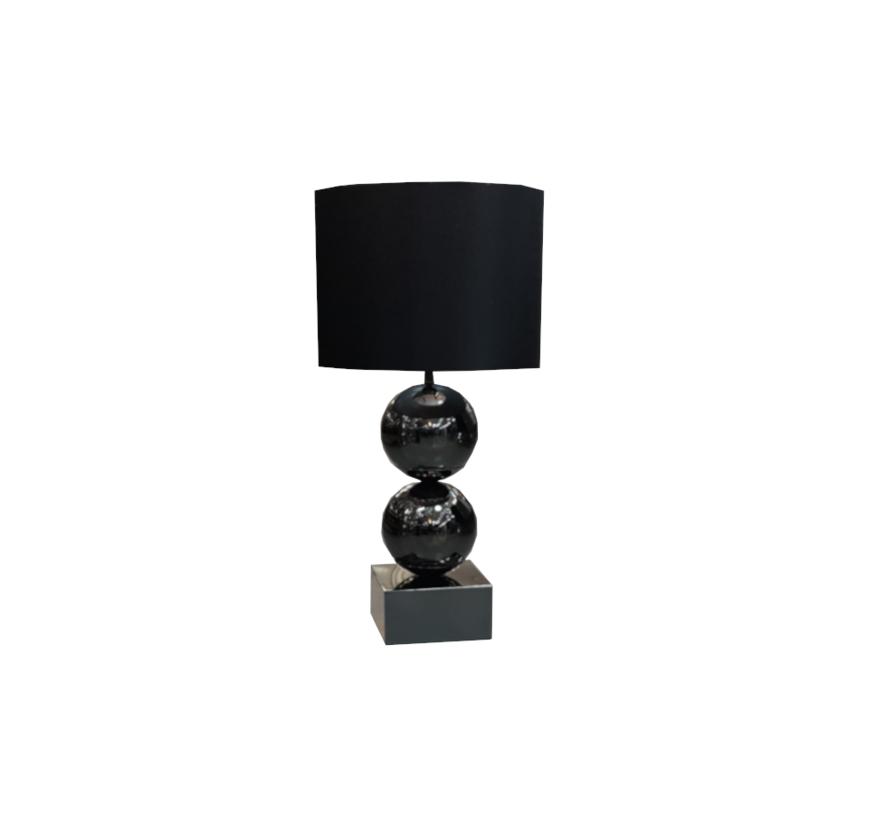 Bollamp - Big Bolls - Zwart - Tafellamp - 2 Bollen - vierkante voet