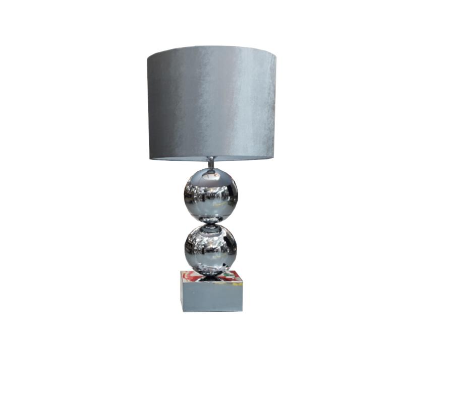 Bollamp - Zilver - Tafellamp - 2 Bollen