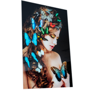 Eric Kuster Stijl Vlinder vrouw- Art Glasschilderij
