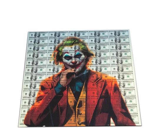 L&M Joker- Art Glasschilderij