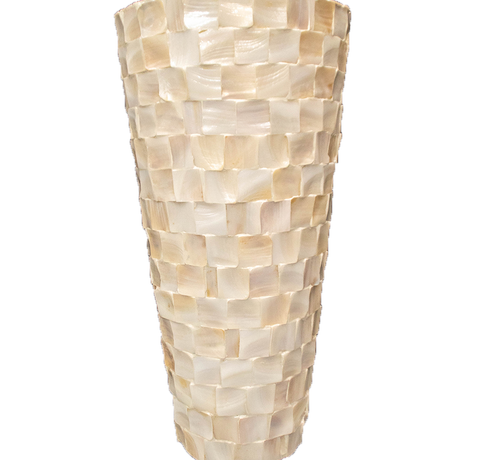 Eric Kuster Stijl Pot Mother of Pearl -Wit