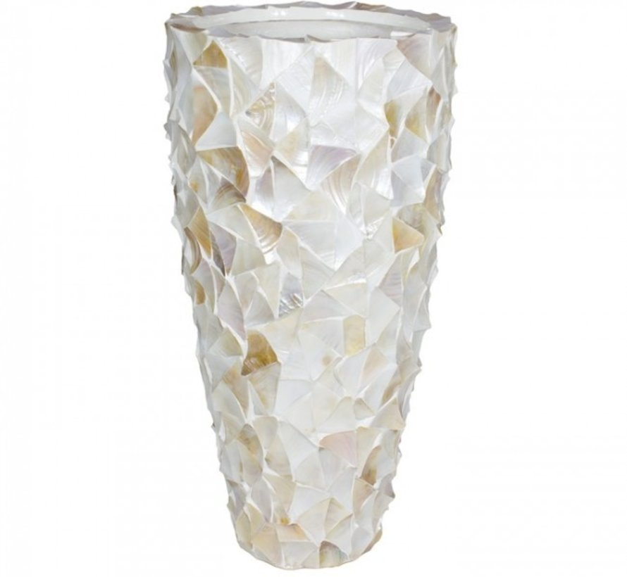Pot Mother of Pearl  - Creme - Schelpenvaas Eric Kuster style