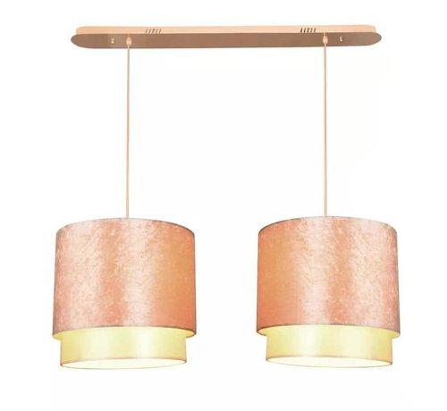 Erik Kuster Style Hanglamp Goud Dubbel