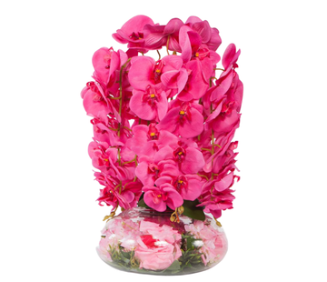 L&M Kunstplant Orchidee Roze (S)- in pot - Transparant