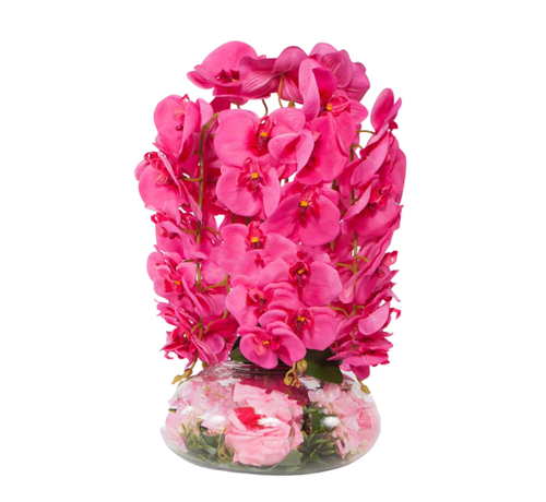 L&M Kunstplant Orchidee Roze (S)- in pot - Transparant