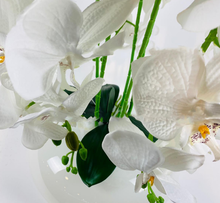 Kunstplant Orchidee Wit (S)- in pot - Wit