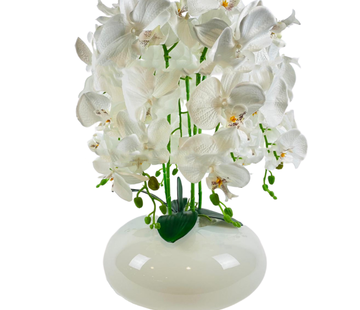 L&M Kunstplant Orchidee Wit (S)- in pot - Wit