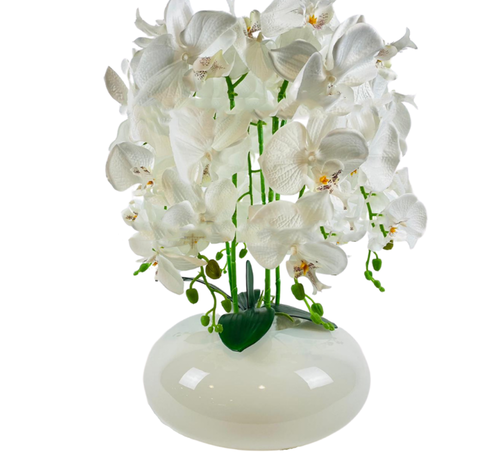 L&M Kunstplant Orchidee Wit (S)- in pot - Wit
