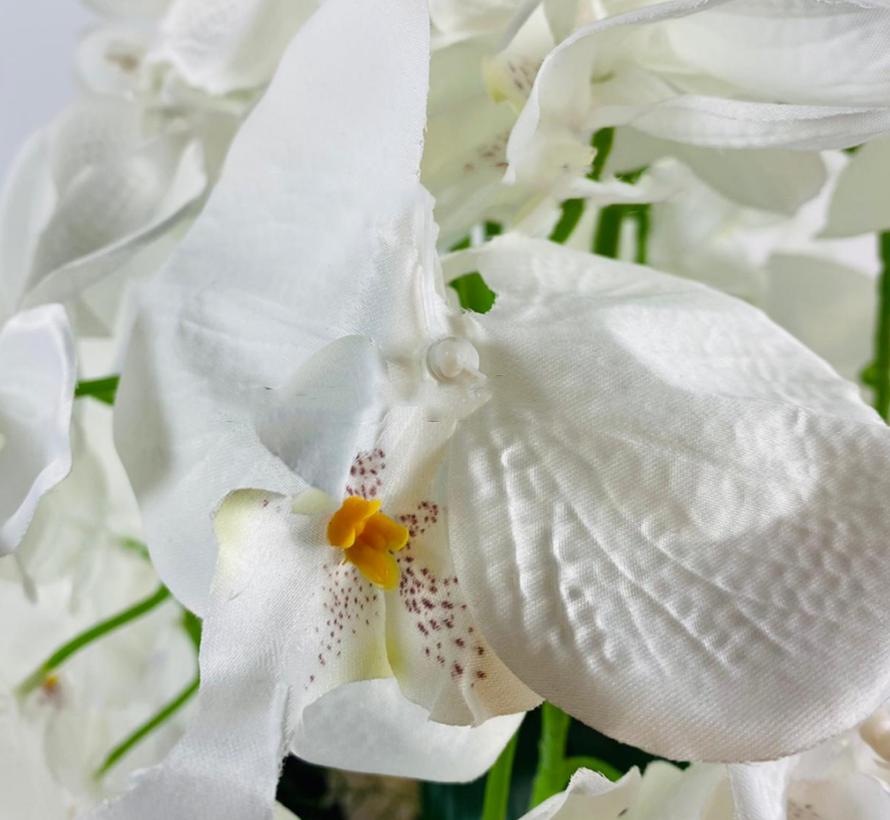 Kunstplant Orchidee Wit (S) - in pot - Smoke kleur