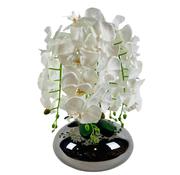 L&M Kunstplant Orchidee Wit (S) - in pot - Smoke kleur