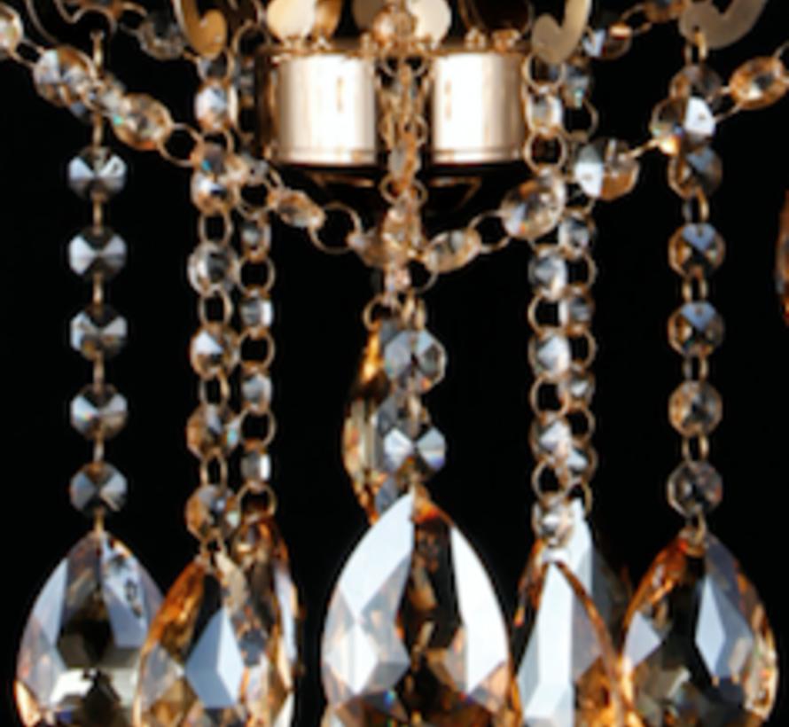 Kroonluchter 6 lichtpunten goud - Silsila