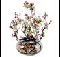 Appelbloesem Roze/Wit Kunstplant - Transparant pot