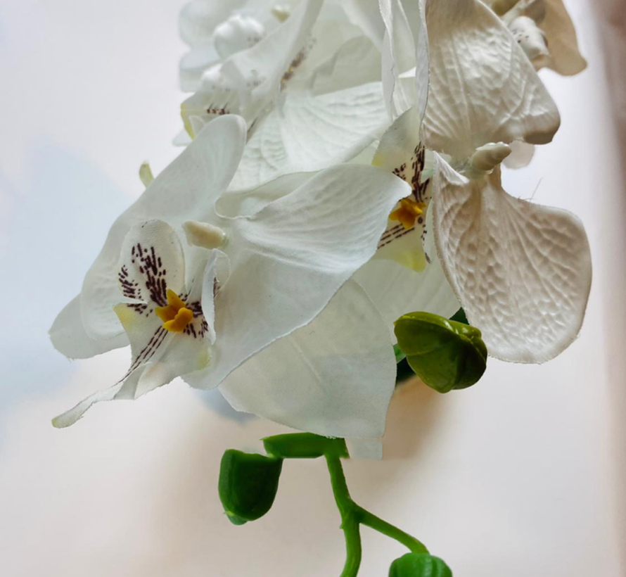 Kunstorchidee - Pot - Wit - Phalaenopsis