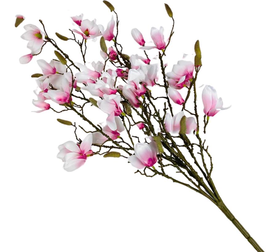 Magnolia XXL Kunsttak - Wit/Roze
