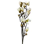 L&M Magnolia Kunsttak - Wit/Geel