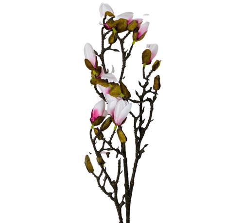 L&M Magnolia Kunsttak - Wit/Roze