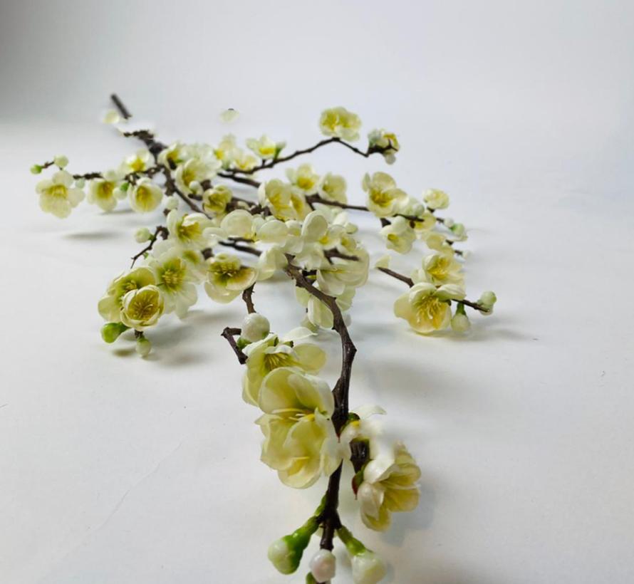 Appelbloesem Kunsttak - Wit/Geel