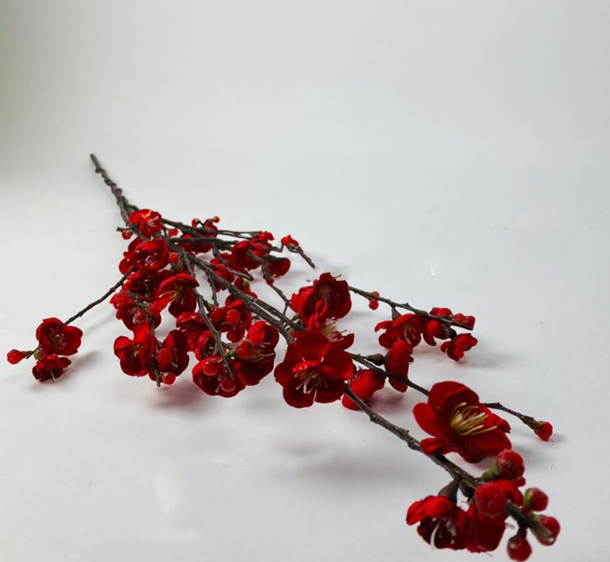 Appelbloesem Kunsttak - Donkerrrood