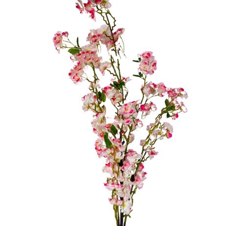 L&M Bloesem kunsttak XL Wit Roze 110 cm