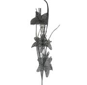 L&M Kunsttak Lelie - Glitter - Zilver