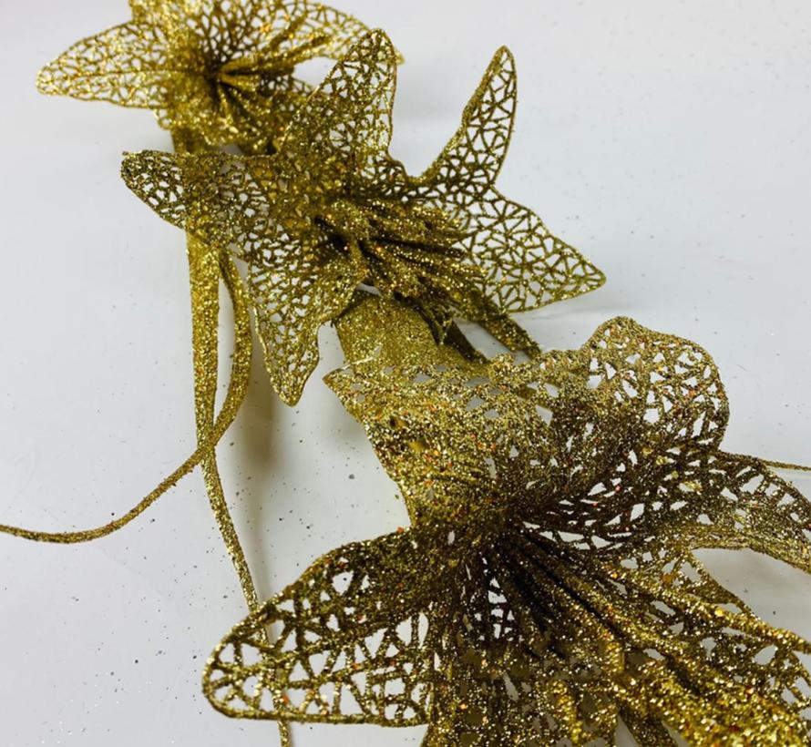 Kunsttak Lelie - Glitter - Goud