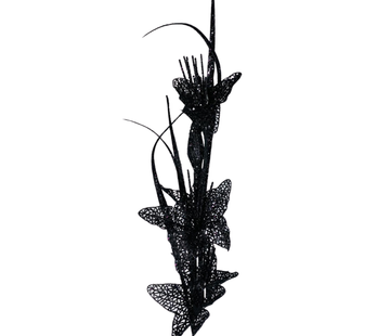 L&M Kunsttak Lelie - Glitter - Zwart