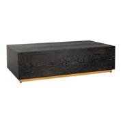 L&M Black Bonita - Bloktafel - Goud - visgraat look - 130 x 70 cm