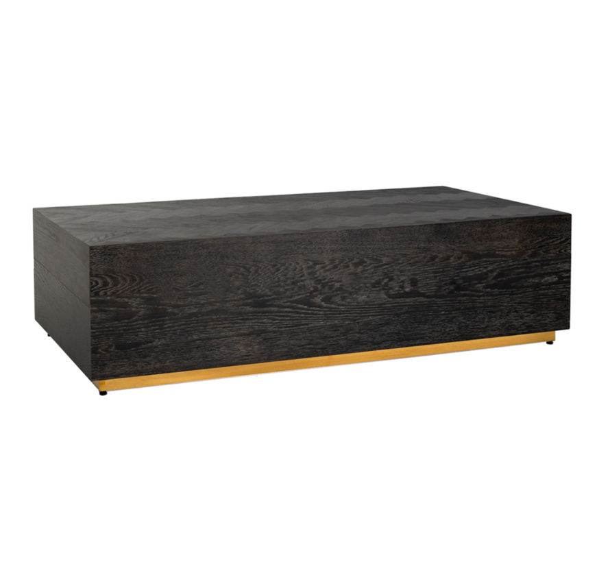 Black Bonita - Bloktafel - Goud - visgraat look - 130 x 70 cm