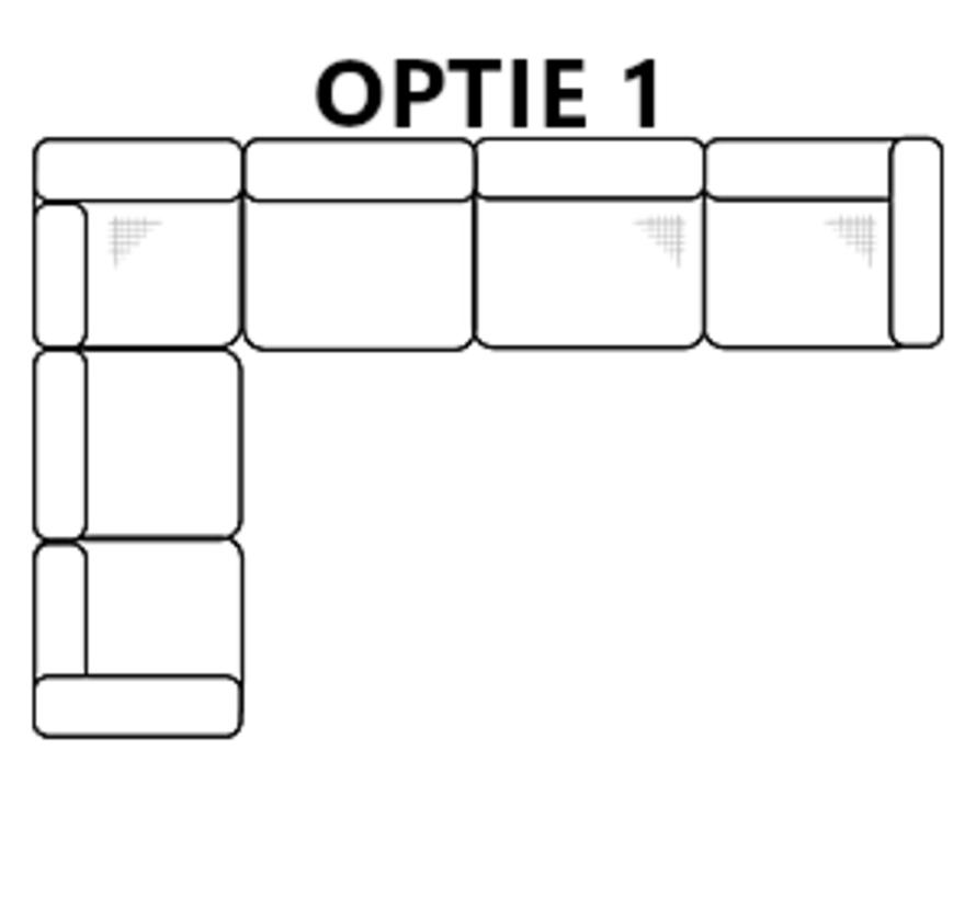 Hoekbank Olivia - Zwart