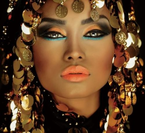 L&M Arabian Princess - Art Glasschilderij