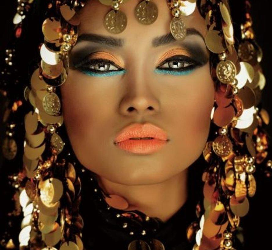 Arabian Princess - Art Glasschilderij