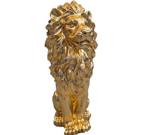 Eric Kuster Style Groot Zittende Leeuwen Beeld - Goud