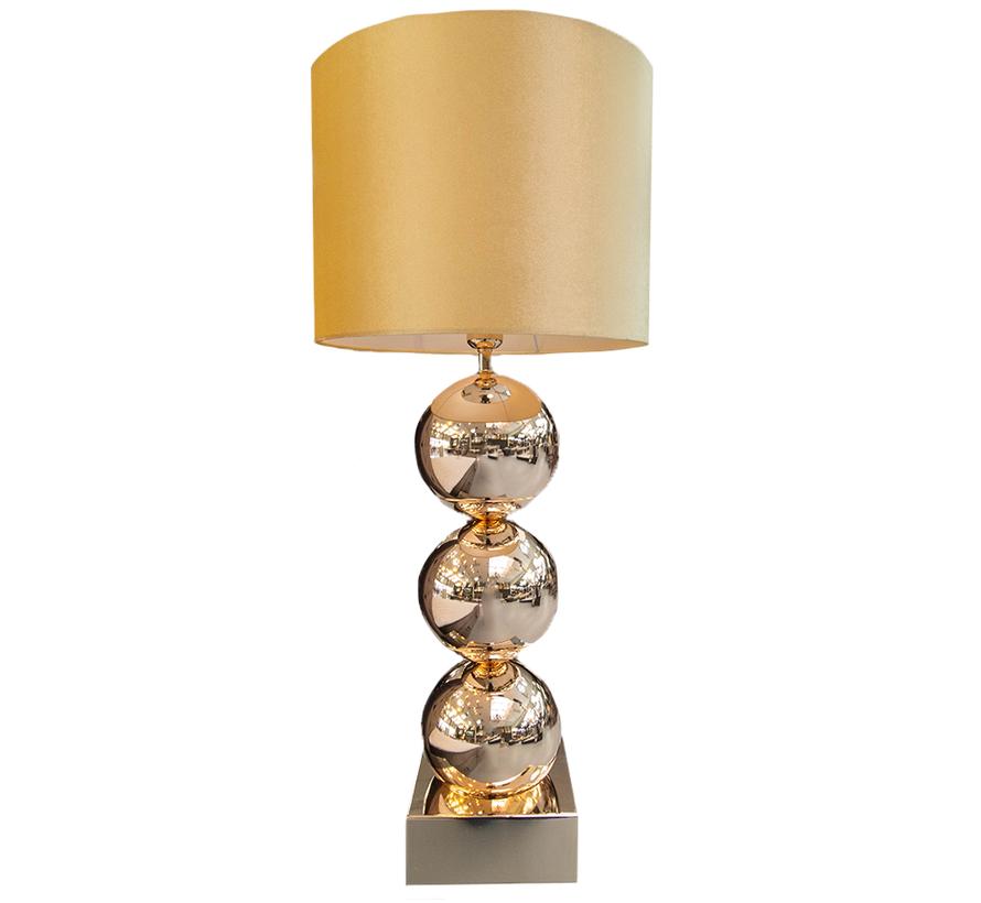 Bollamp - Tafellamp - 3 Bollen -Vierkante Voet