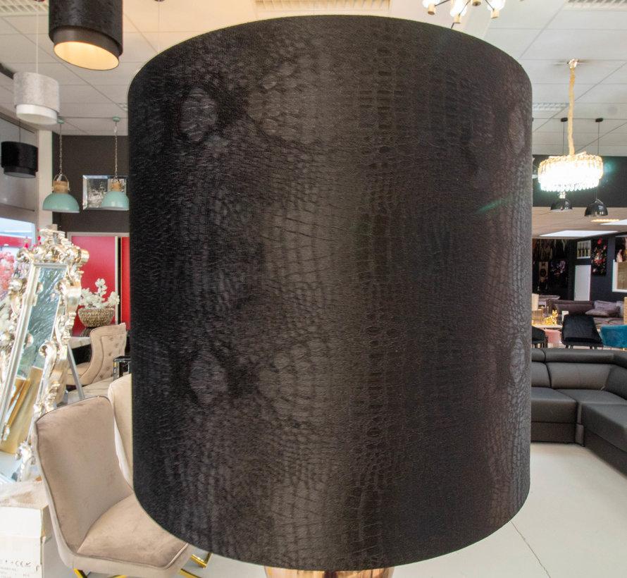 Brons 7 Bollamp Met Zwarte Croco Kap