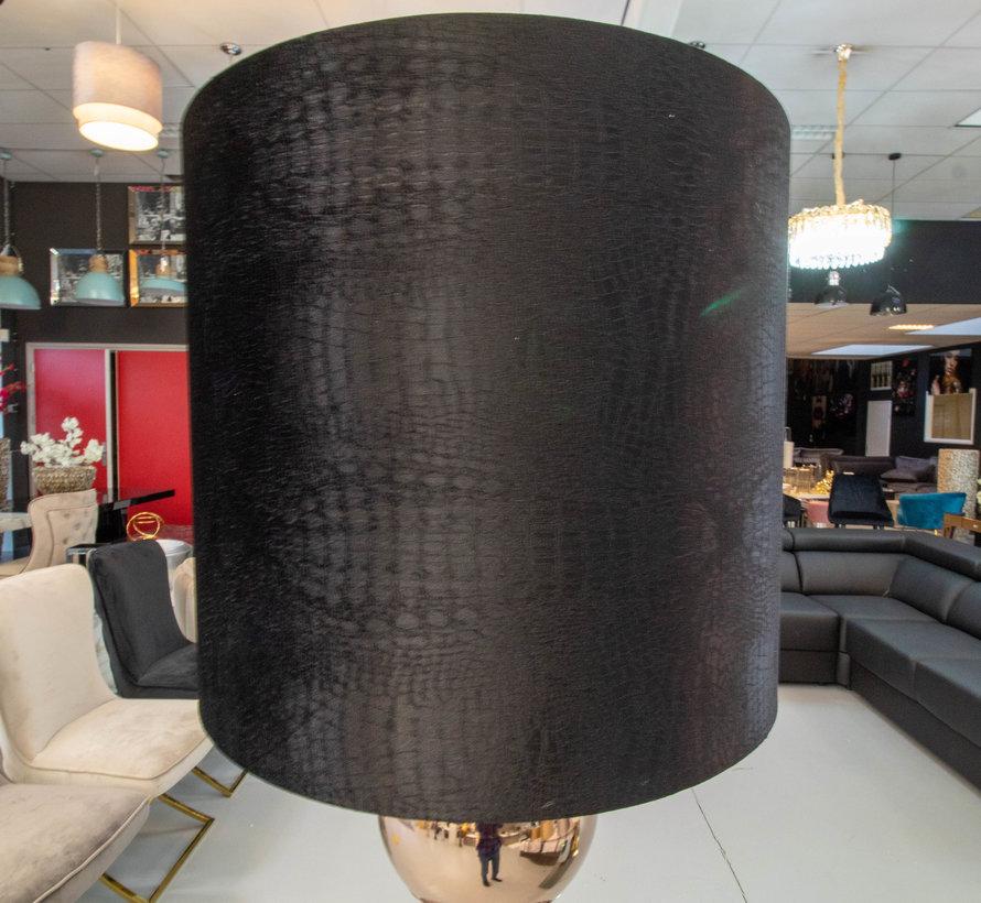 Brons 6 Bollamp Met Zwarte Croco Kap