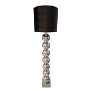 Eric Kuster Style Zilvere 7 Bollamp Met Zwarte Croco Kap
