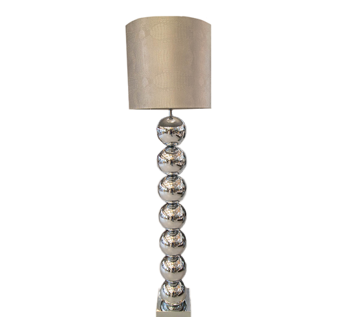 Eric Kuster Style Zilvere 7 Bollamp Met Zilvere Croco Kap