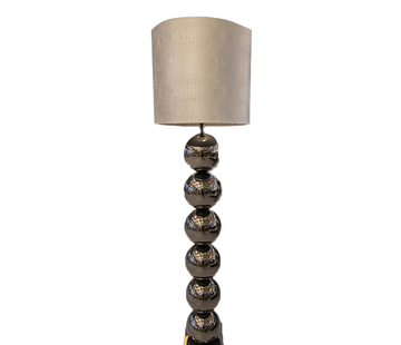 Eric Kuster Style Zwarte 6 Bollamp Met Zilvere Croco Kap