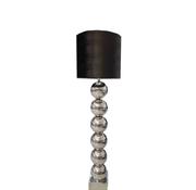 Eric Kuster Style Zilvere 6 Bollamp Met Zwarte Croco Kap